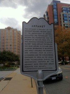 Arpanet, the precursor to the Internet, right here in Rosslyn