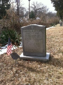 Jeanne and Daniel Dugan grave