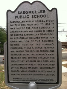 The Saegmuller Public School was in use from 1890 until 1937