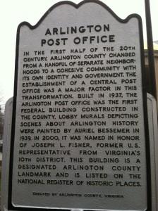 Arlington Post Office on Washington Boulevard