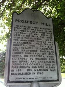 Prospect Hill marker on Arlington Ridge